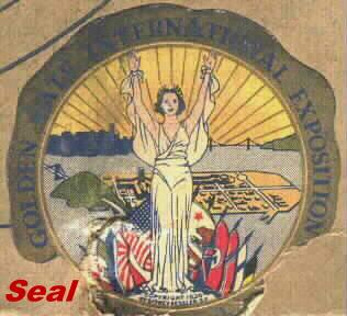 Golden Gate International Exposition Seal on the Box